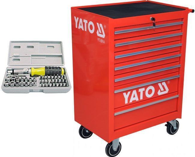 Ящик строительный YATO YT-0914 + набор отверток 40 шт