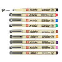 Ручка-кисть капиллярная PIGMA Brush линер Sakura XSDK-BR#**_зеленый