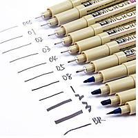 Ручка капиллярная PIGMA Micron линер Sakura 0,5мм XSDK08#**_синий