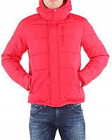 Красный пуховик Wrangler protector с капюшоном, L