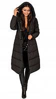 Натуральное черное пальто LAUREN DŁUGI - L