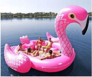 Надувной пляжный матрас Flamingo 500х300 см
