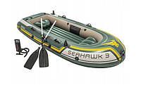 Туристическая надувная лодка Intex 68380 SEAHAWK 3 2018, фото 1