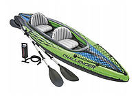 Туристическая надувная лодка Intex 68306 Challenger K2