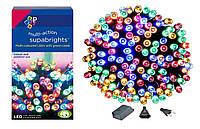 Новогодняя гирлянда 100 LED, Разноцветная, Длина 8 Метров, фото 1