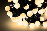Новогодняя гирлянда 200 LED / 20 м,  белый теплый свет, фото 1