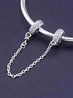 077395 Соединительная цепочка 'Pandora style' Фианит Серебро(925)