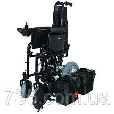 Коляска инвалидная с двигателем сложная JT-100, фото 3