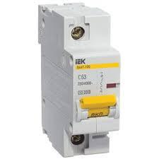 Автоматический выключатель ВА47-100 1Р 100А 10кА х-ка D ИЭК