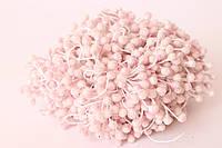 Сахарные тычинки двусторонние 80 шт (160 головок) на нити нежно-розового цвета, фото 1