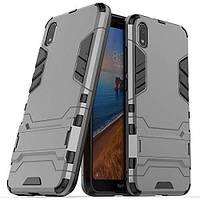 Чехол Iron для Xiaomi Redmi 7A бронированный бампер Броня Gray, фото 1