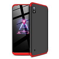 Чехол GKK 360 для Samsung Galaxy A10 2019 / A105 бампер оригинальный Black-Red