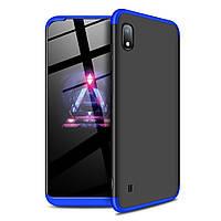 Чехол GKK 360 для Samsung Galaxy A10 2019 / A105 бампер оригинальный Black-Blue