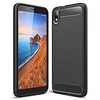 Чехол Carbon для Xiaomi Redmi 7A бампер оригинальный Black, фото 1