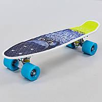 Скейтборд пластиковый Penny 22in с рисунком СОВА