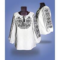 Женская вышитая блуза крестиком