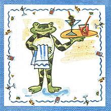 Коллекционная салфетка Лягушонок официант 4733