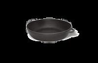 Чугунная сковорода сотейник с двумя литыми руч. d=230 мм, h=60мм