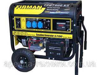 Аренда электрогенератора Firman FPG 7800 E2 (5,5 кВт.)