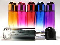 Флакон для парфюмерии цветной Оникс 30 мл комплектация металлический спрей синий