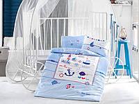 Постельное белье в детскую кроватку Хлопок (TM Clasy)Sailing Fish , Турция