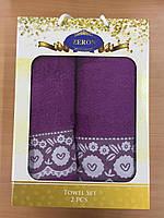 Набор полотенец Хлопок 1+1 (фиолетовый), Турция