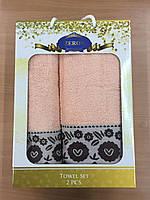 Набор полотенец Хлопок 1+1 (персиковый), Турция 1017800551