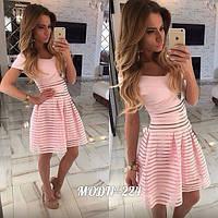 Комплект топ и юбка нежно розовый