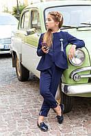 Детский школьный костюм для девочек (темно-синий) 116-122 см Tiny look
