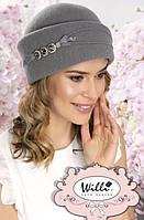 """Красивая тёплая шапка-кубанка """"Тиран"""" (Tiran) - 308 серый"""