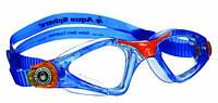 Детские очки для плавания Aqua Sphere Kayenne Junior, clear lens blue/orange