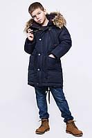 Зимняя детская куртка парка для мальчиков (синий) 32 X-WOYZ