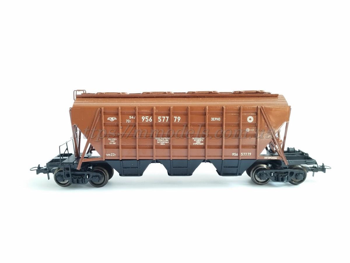 4-осный вагон-хоппер для перевозки зерна ( зерновоз) H0,1/87, фото 1