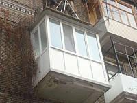 Балкон под ключ, раздвижные металлопластиковые балконы