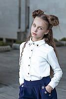 Детская школьная рубашка для девочек smart совы 116-122 см Tiny look