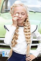 Школьная блуза с воланами на рукавах волан 116-122 см Tiny look