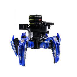 Радиоуправляемый робот-паук Keye Space Warrior ракеты, диски, лазер Blue