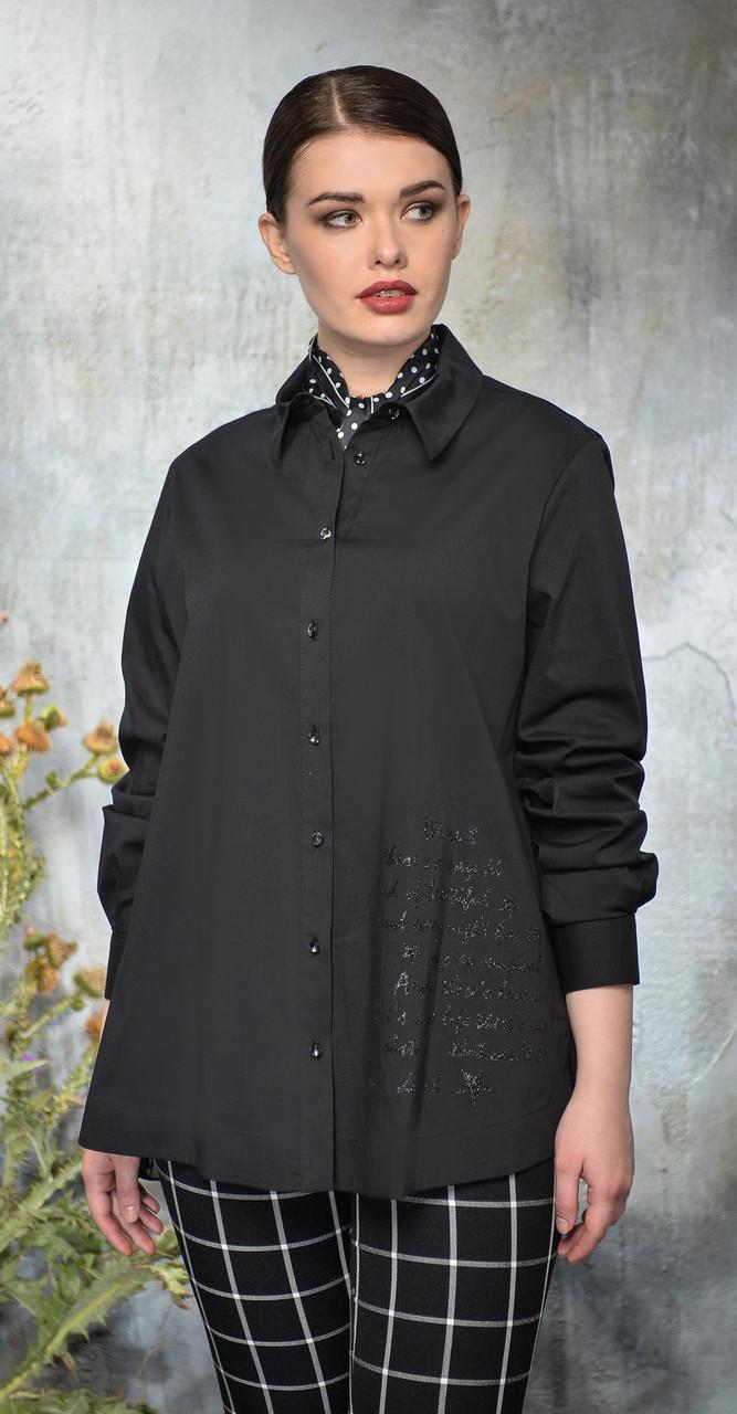 Рубашка Anna Majewska-А117 белорусский трикотаж, черный, 50
