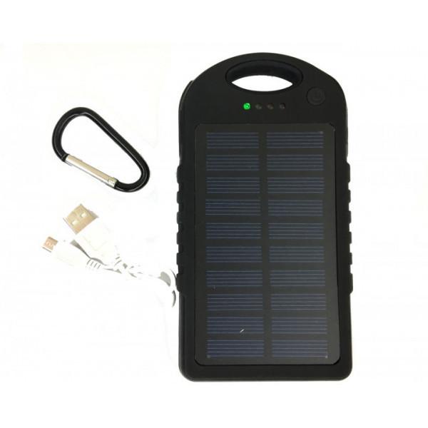 Power Bank Solar 45000 mAh на солнечной батареи Черный