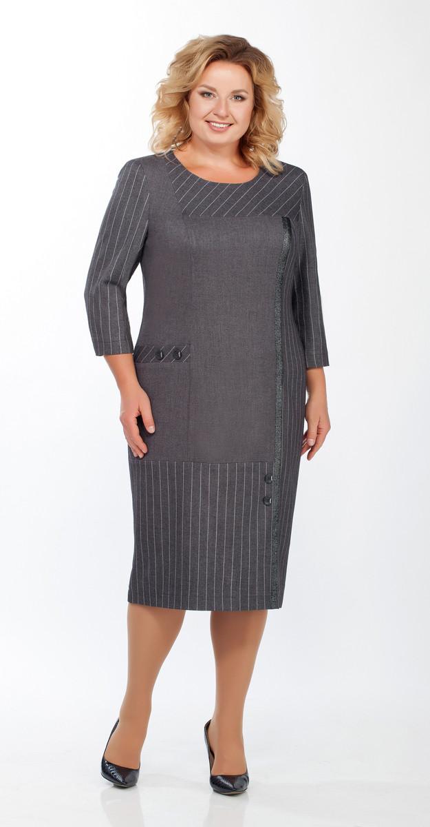 Платье Теллура-Л-1453 белорусский трикотаж, серый, 54