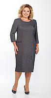 Сукня Телуру-Л-1453 білоруський трикотаж, сірий, 54