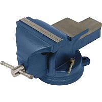 Тиски слесарные поворотные MIOL 36-300 125 мм Синий (019рллрэхлэлПГА321)