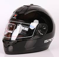 Шлем (интеграл) ISPIDO ZONDA SV с очками черный глянец