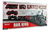 Детская железная дорога Большой Коллекционный торговый поезд с фонарем и дымом Roil King, фото 1