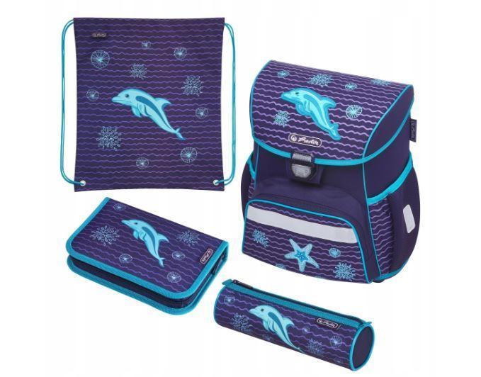 Школьный рюкзак для девочек Herlitz LOOP PLUS DOLPHIN