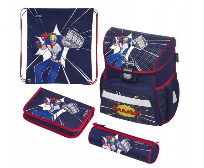 Школьный рюкзак для мальчиков HERLITZ Loop Plus COSMIC HERO + 2 пенала + сумка для спортивной обуви