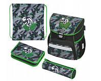Школьный рюкзак для мальчиков Herlitz LOOP PLUS DINO JUNGLE + 2 пенала + сумка для спортивной обуви, фото 1