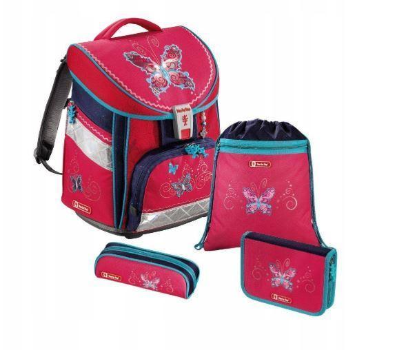 Школьный рюкзак для девочек Hama Step By Step BUTTERFLY + 2 пенала + сумка для спортивной обуви