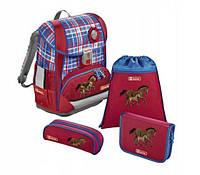 Школьный рюкзак для девочек Hama Step By Step HORSE FAMILY + 2 пенала + сумка для спортивной обуви, фото 1