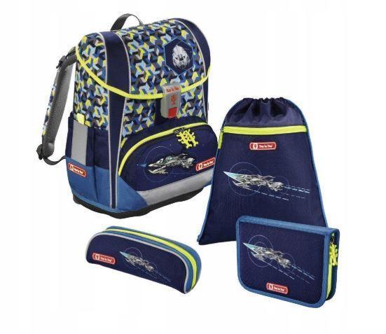 Школьный рюкзак для мальчиков HAMA Step By Step LIGHT II SPACE + 2 пенала + сумка для спортивной обуви